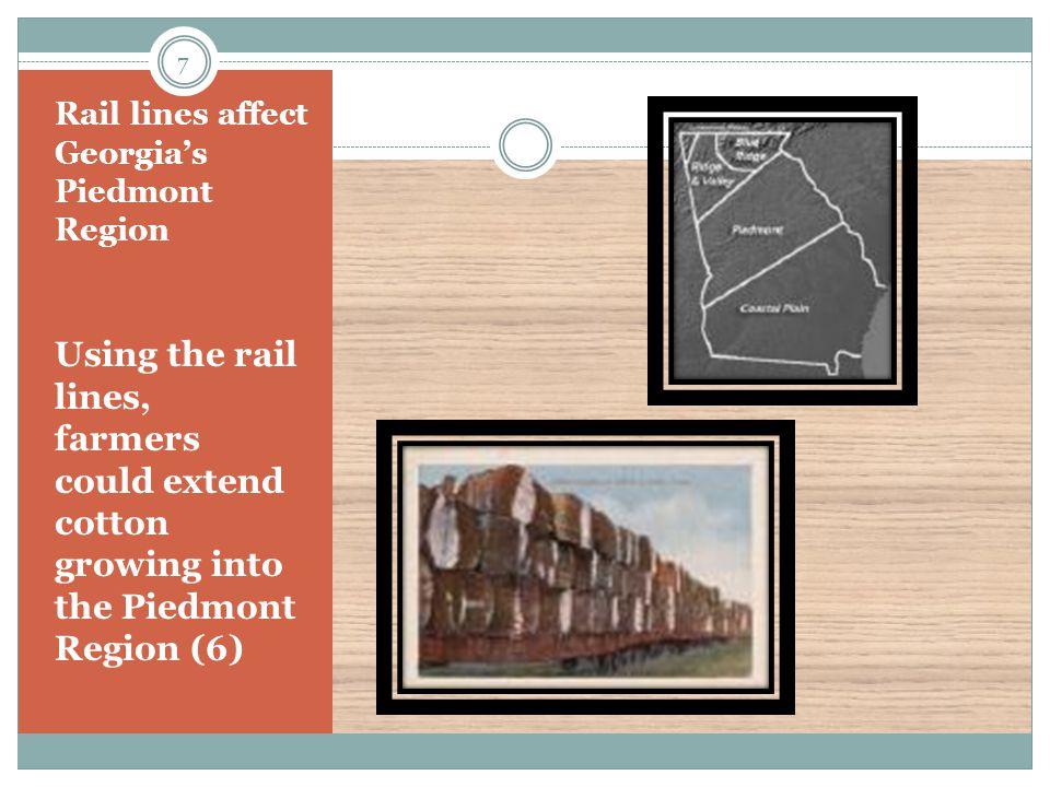 Rail lines affect Georgia's Piedmont Region