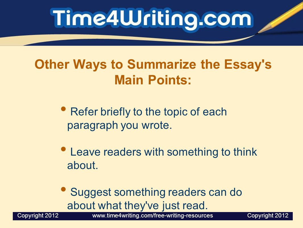essay points How to write an essay wikihow account conclude your essay summarize your points and suggest ways in which.