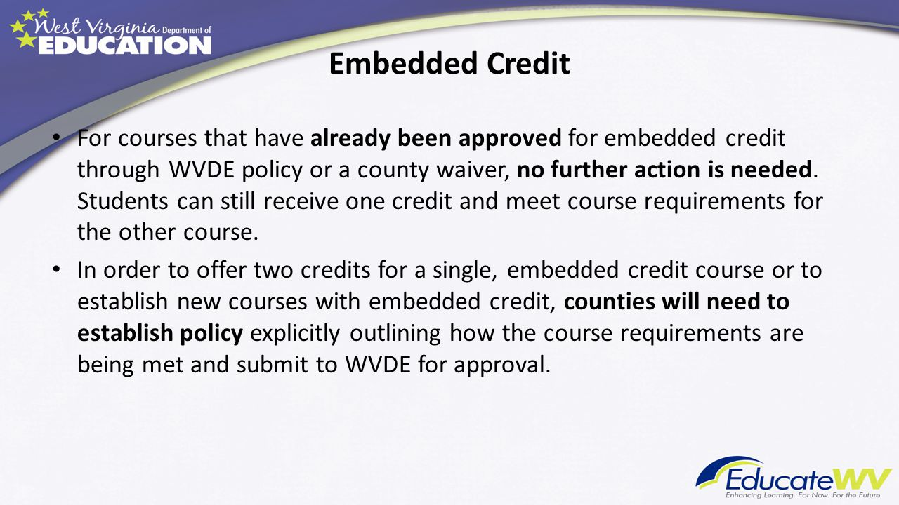 Embedded Credit