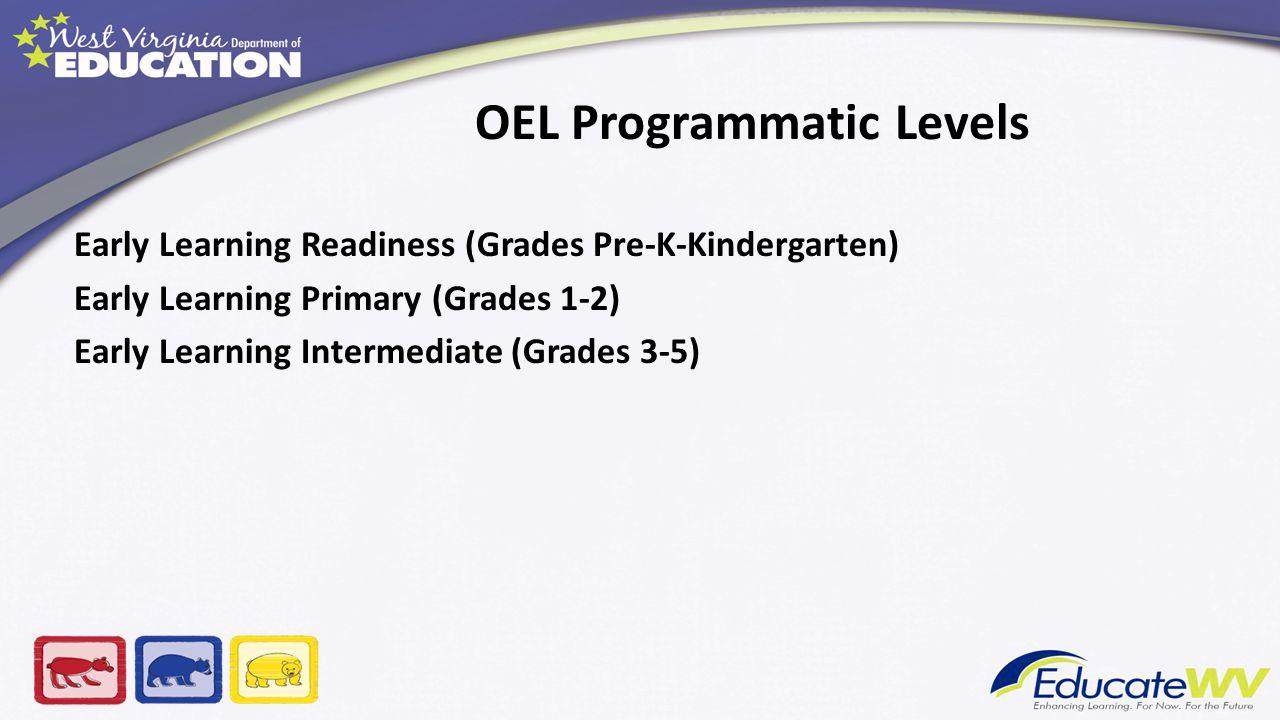 OEL Programmatic Levels