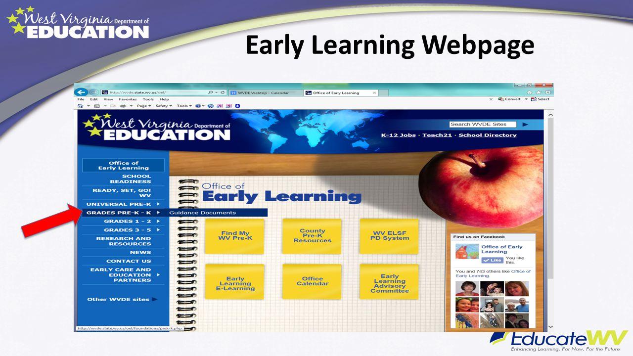 Early Learning Webpage