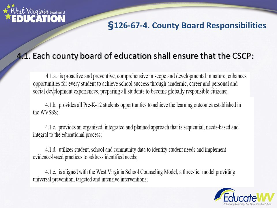 § County Board Responsibilities