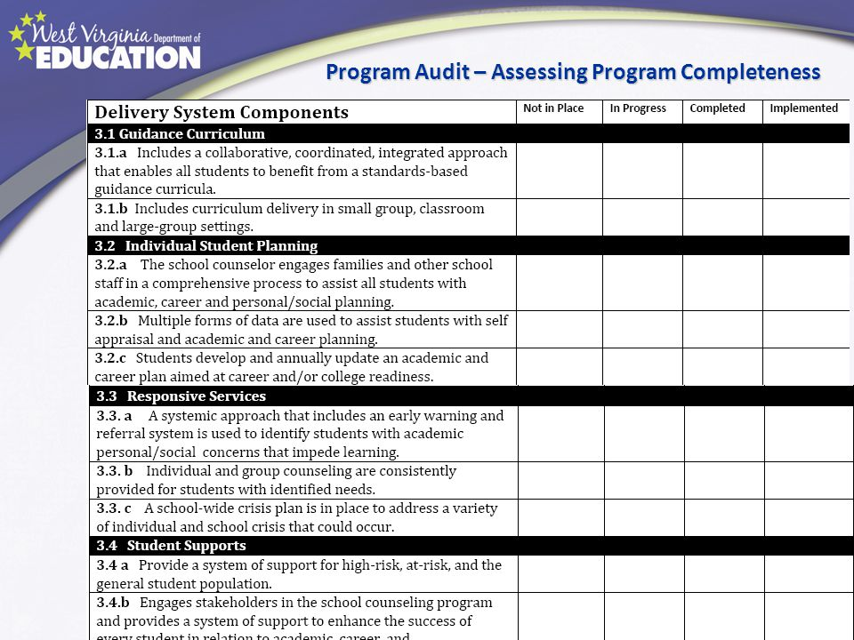 Program Audit – Assessing Program Completeness