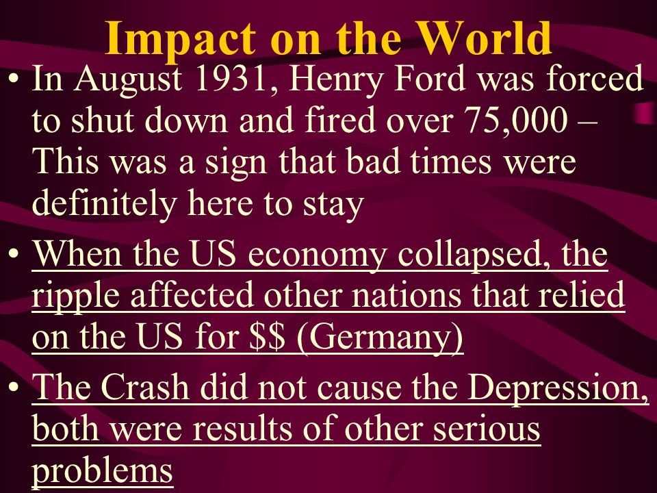 Impact on the World