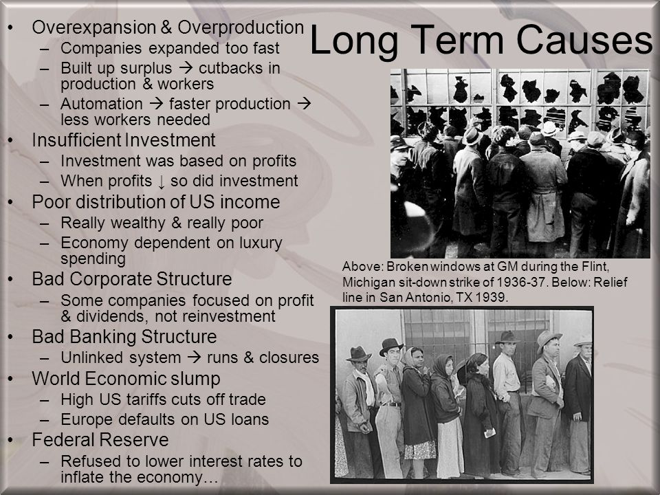Long Term Causes Overexpansion & Overproduction
