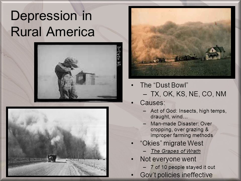 Depression in Rural America