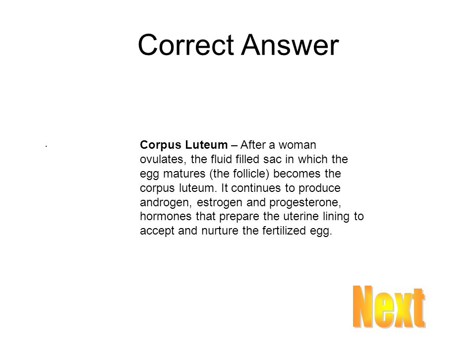 Correct Answer .