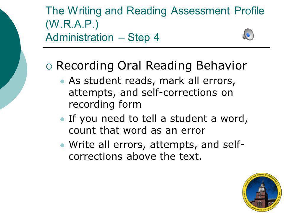 Recording Oral Reading Behavior