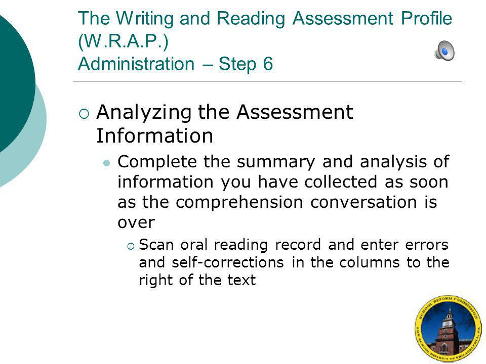Analyzing the Assessment Information