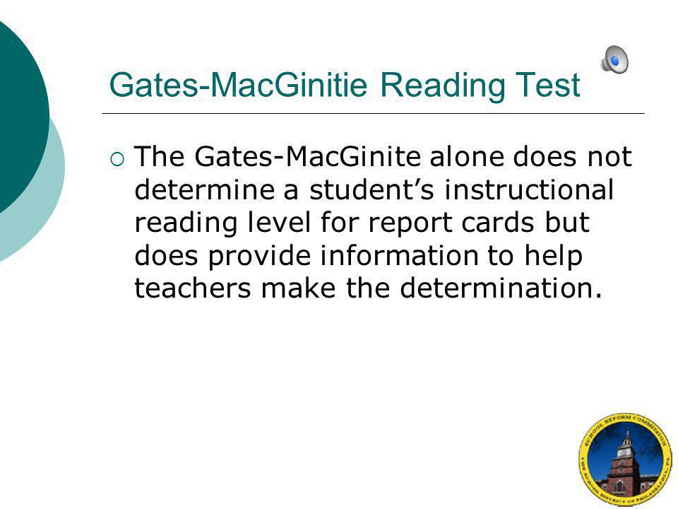 Gates-MacGinitie Reading Test