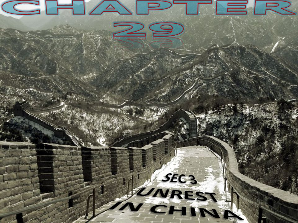 CHAPTER 29 SEC 3 UNREST IN CHINA