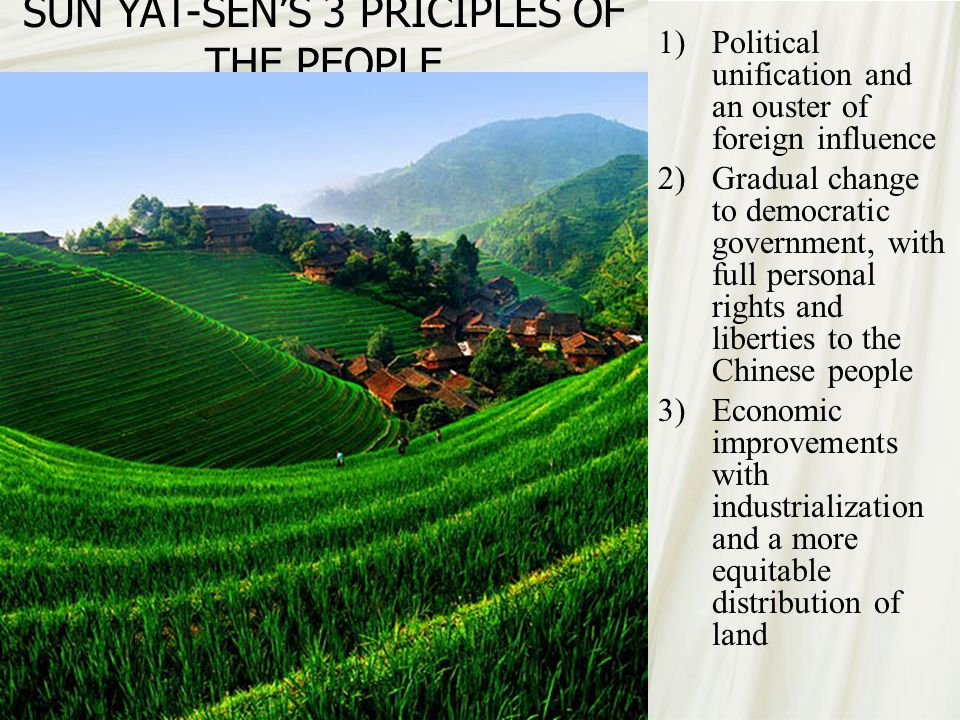 SUN YAT-SEN'S 3 PRICIPLES OF THE PEOPLE