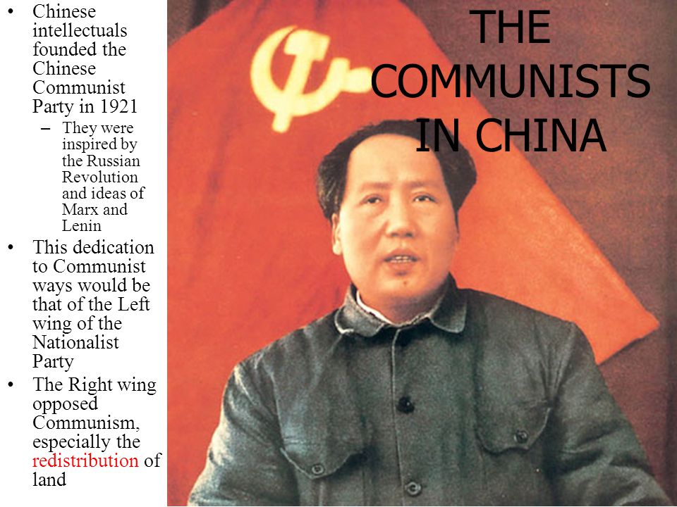 THE RISE OF THE COMMUNISTS IN CHINA