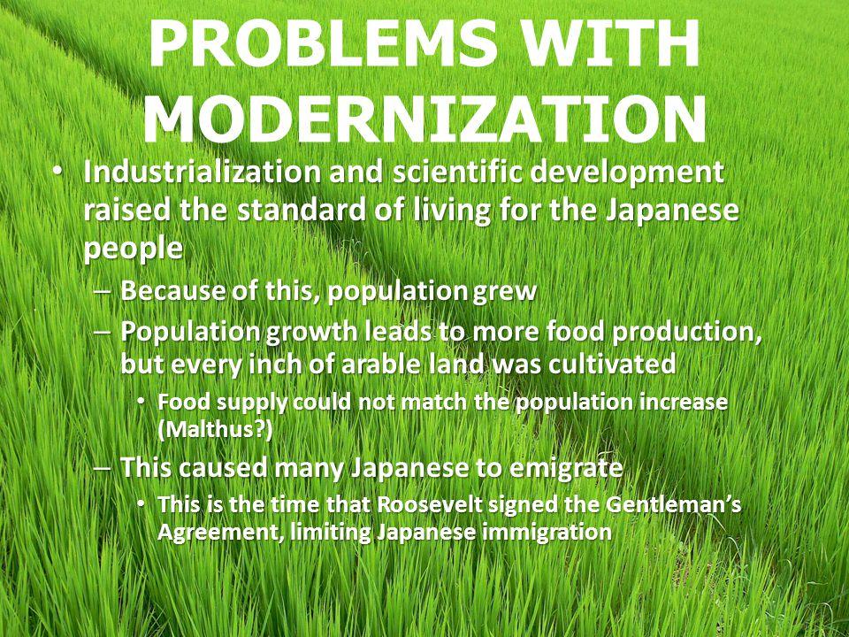 PROBLEMS WITH MODERNIZATION