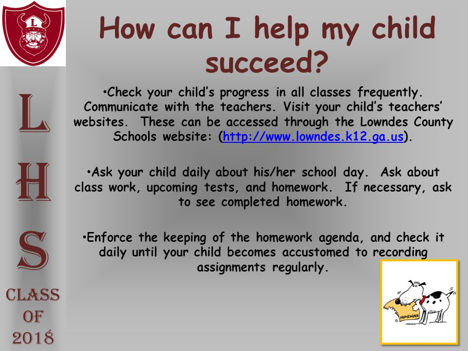 How can I help my child succeed