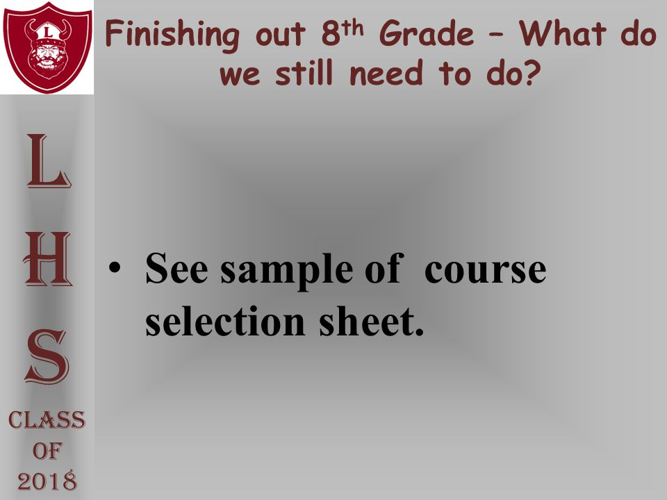 Finishing out 8th Grade – What do we still need to do