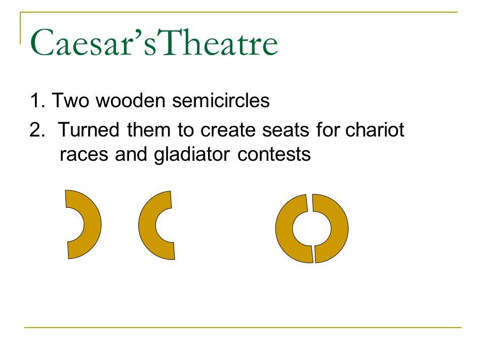 Caesar'sTheatre 1. Two wooden semicircles