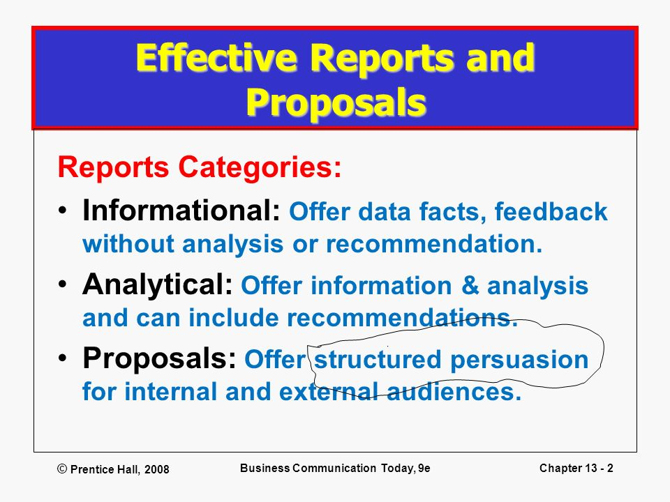 Effective Reports and Proposals