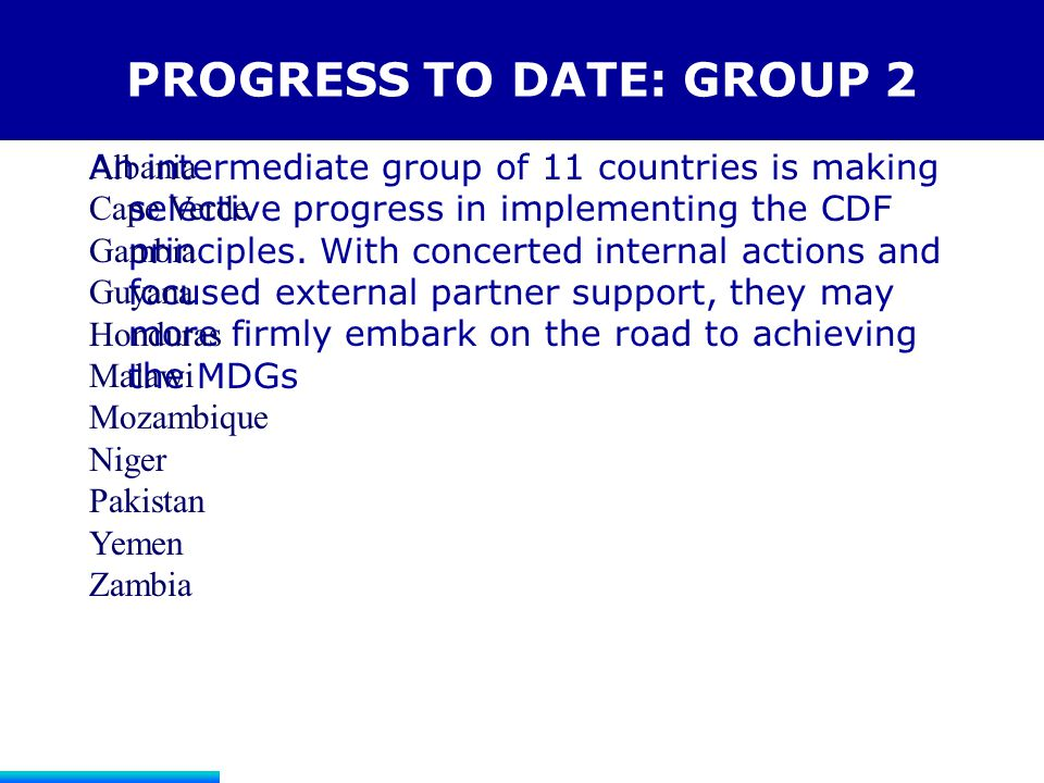 PROGRESS TO DATE: GROUP 2