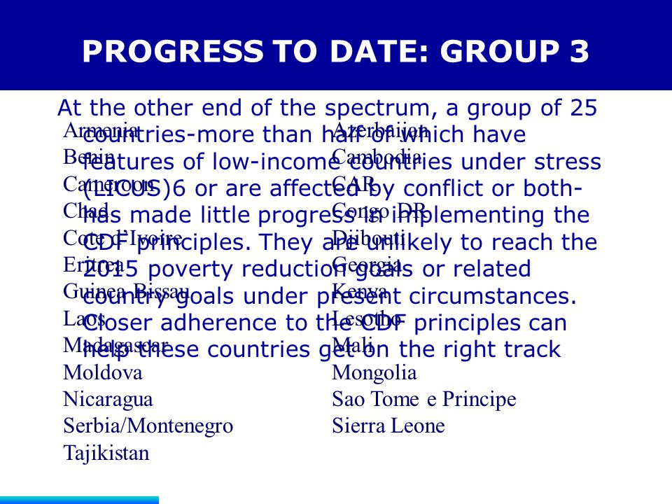 PROGRESS TO DATE: GROUP 3