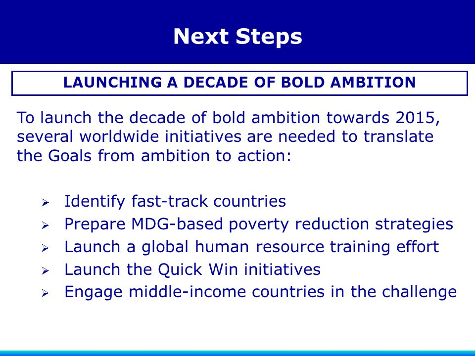 LAUNCHING A DECADE OF BOLD AMBITION