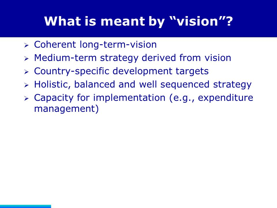 What is meant by vision
