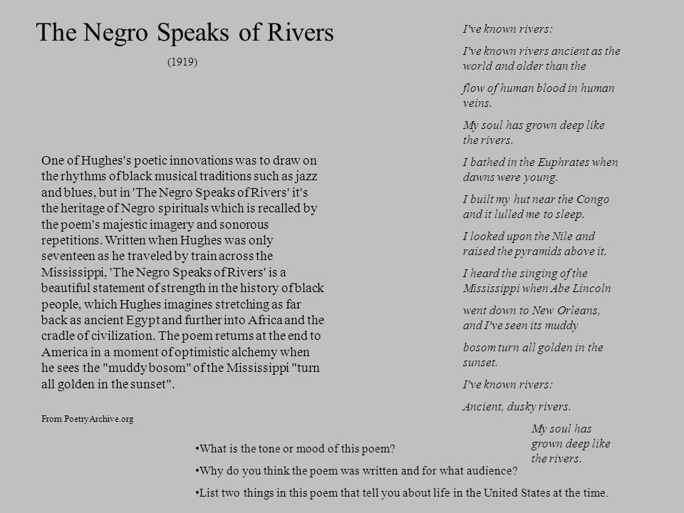 The Negro Speaks of Rivers