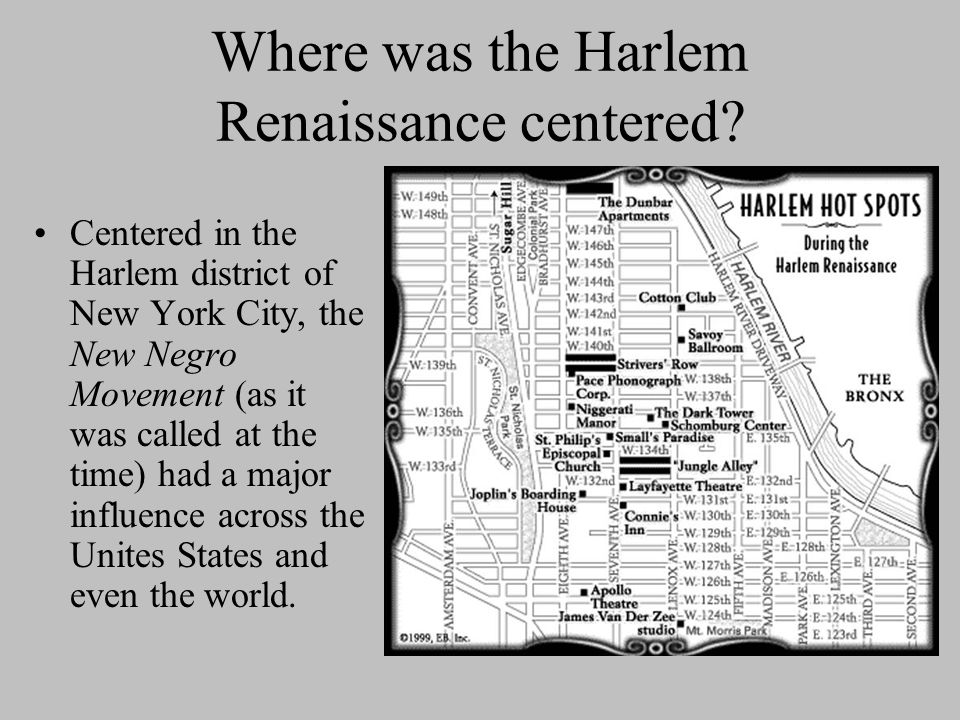 Where was the Harlem Renaissance centered