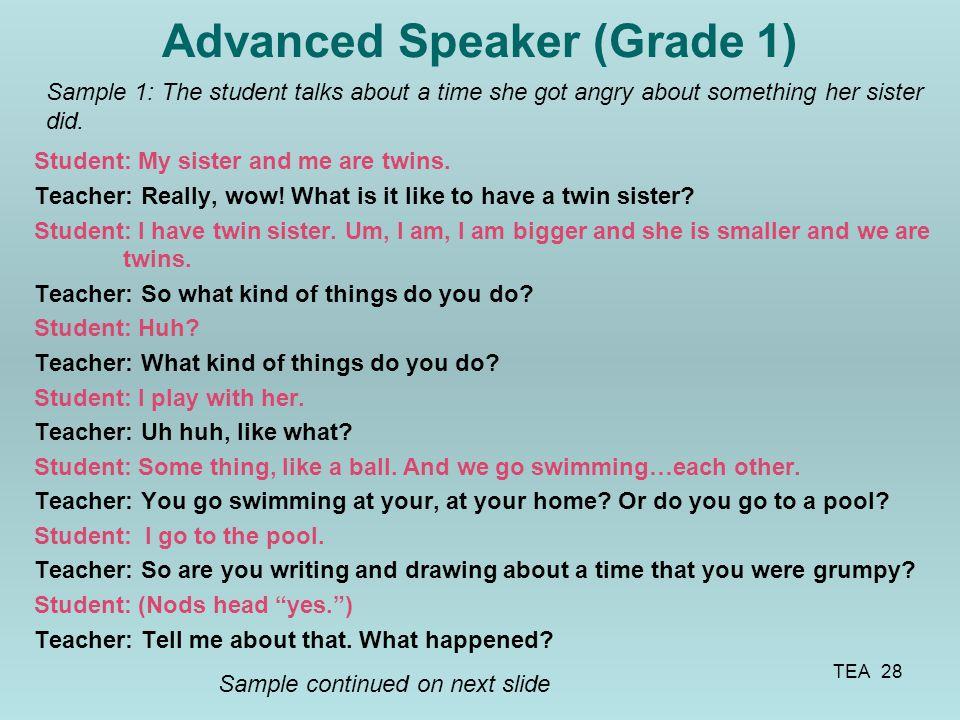 Advanced Speaker (Grade 1)