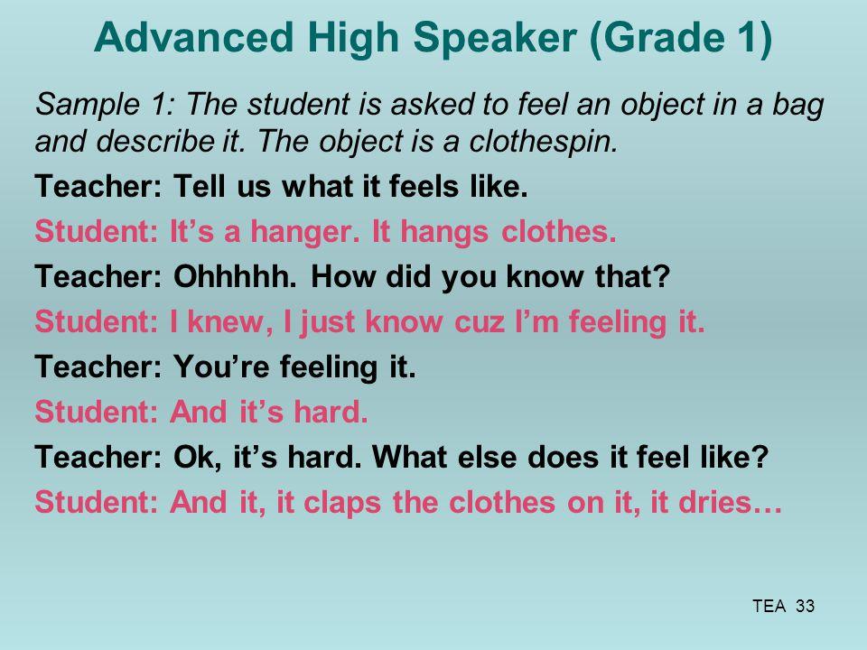 Advanced High Speaker (Grade 1)