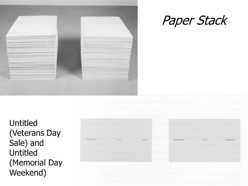 Paper Stack Untitled (Veterans Day Sale) and Untitled (Memorial Day Weekend)