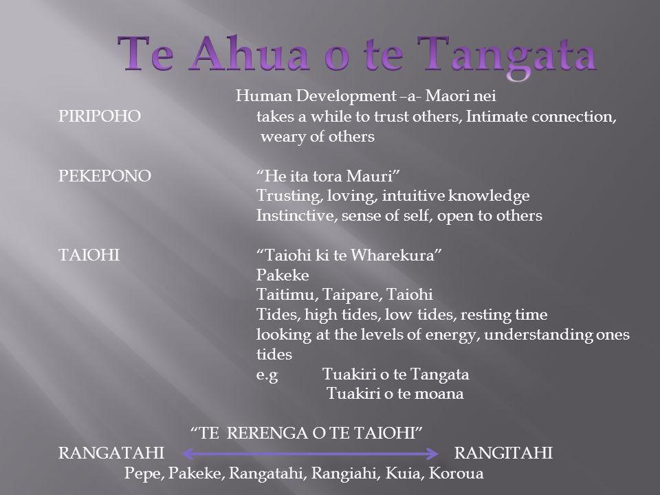 Te Ahua o te Tangata Human Development –a- Maori nei