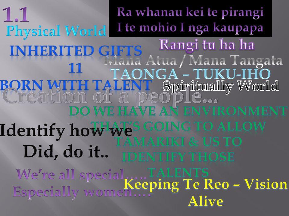 Mana Atua / Mana Tangata Do we have an environment