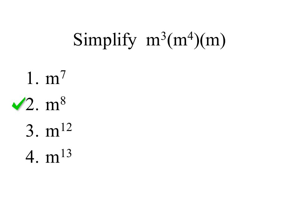 Simplify m3(m4)(m) m7 m8 m12 m13