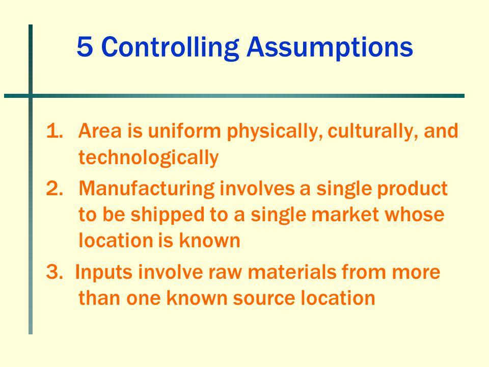 5 Controlling Assumptions