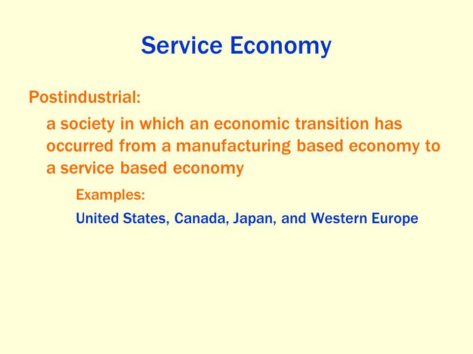 Service Economy Postindustrial: