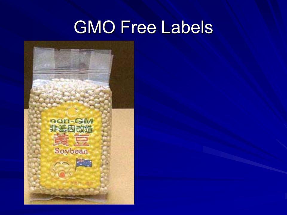 GMO Free Labels