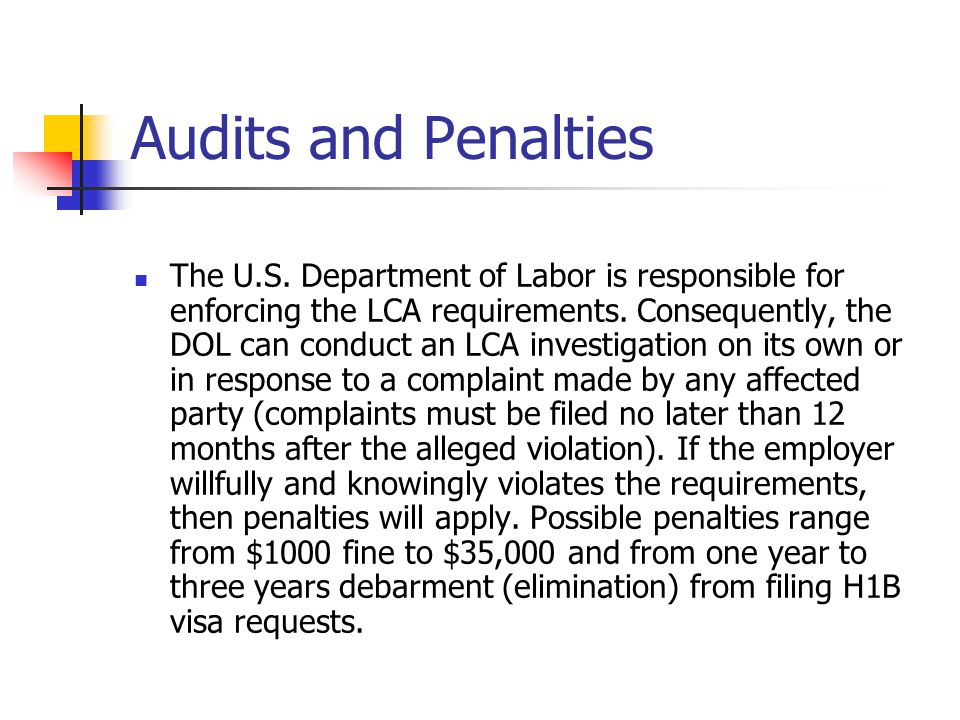 Audits and Penalties