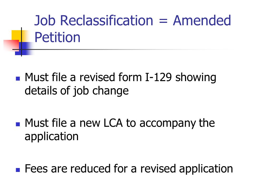 Job Reclassification = Amended Petition