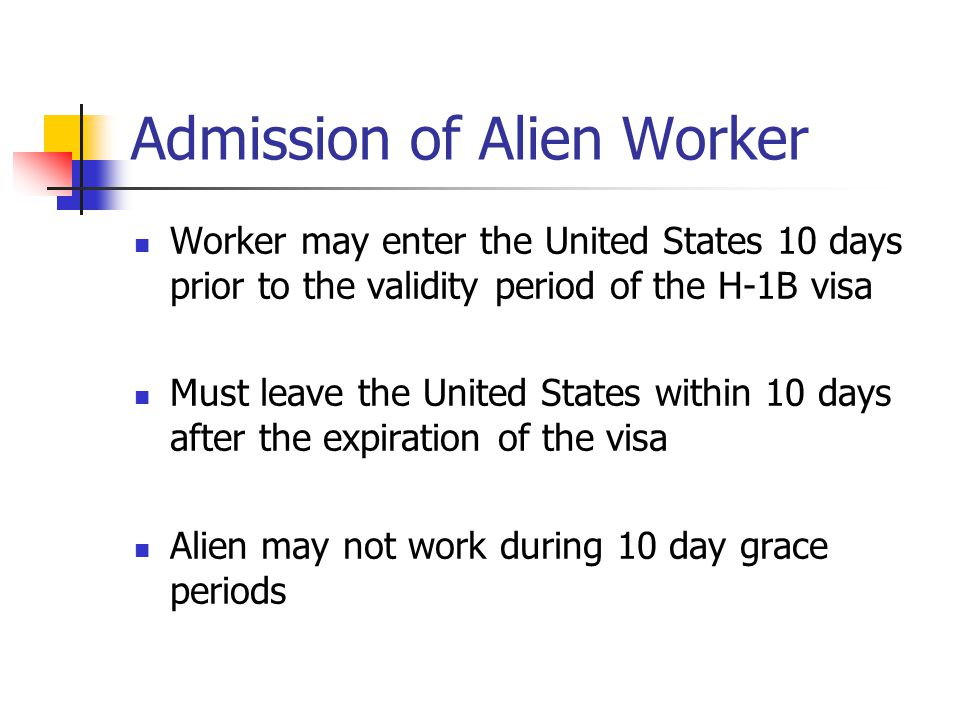 Admission of Alien Worker