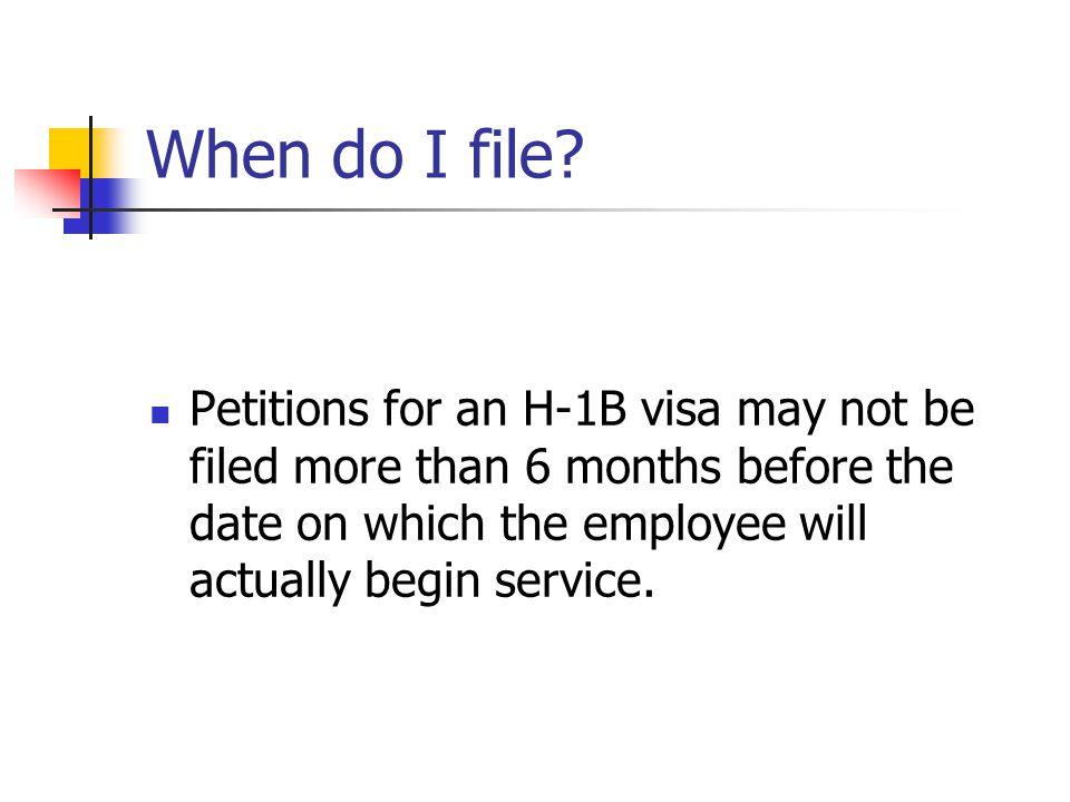 When do I file.