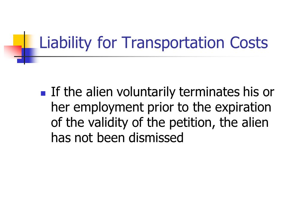 Liability for Transportation Costs