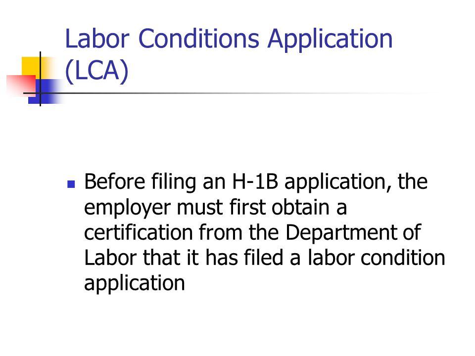 Labor Conditions Application (LCA)