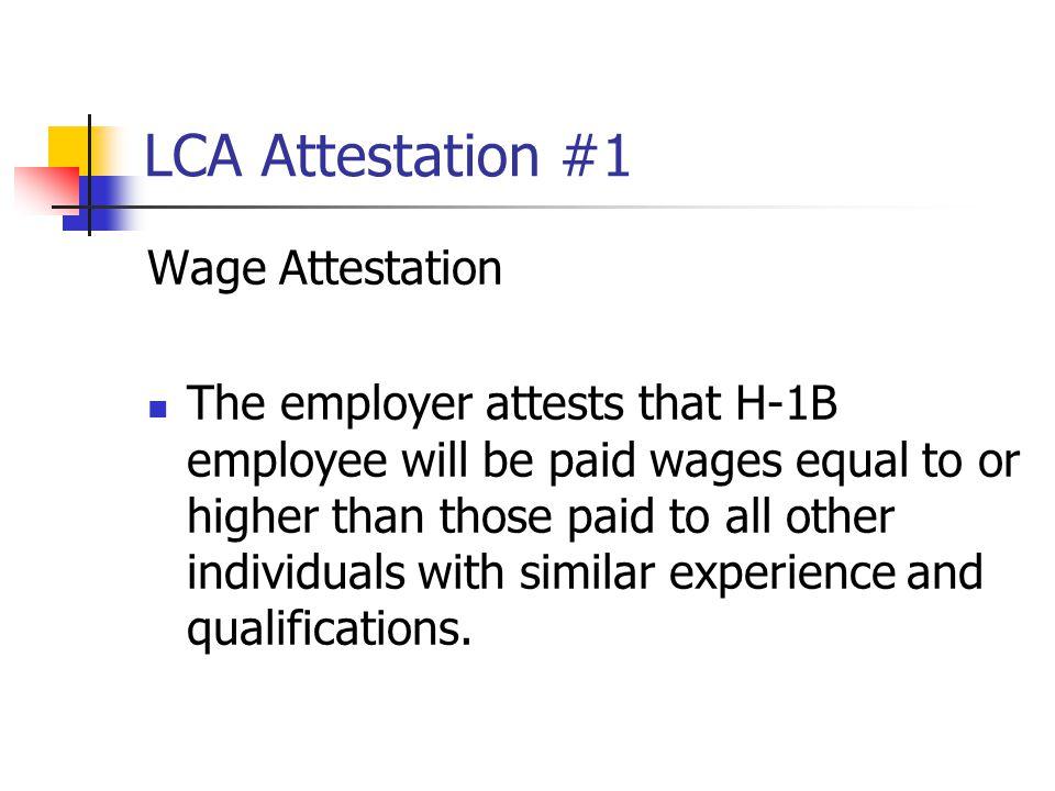 LCA Attestation #1 Wage Attestation