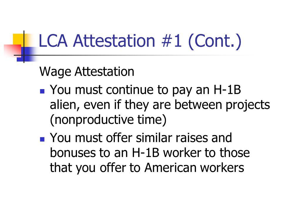 LCA Attestation #1 (Cont.)