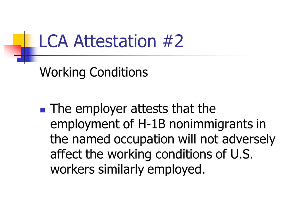 LCA Attestation #2 Working Conditions