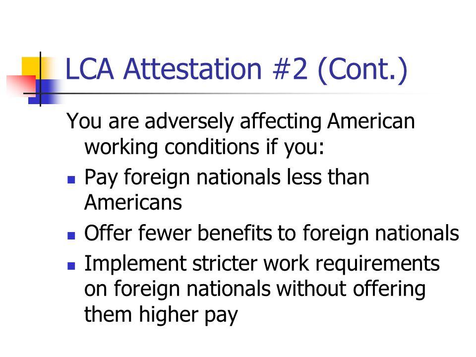 LCA Attestation #2 (Cont.)