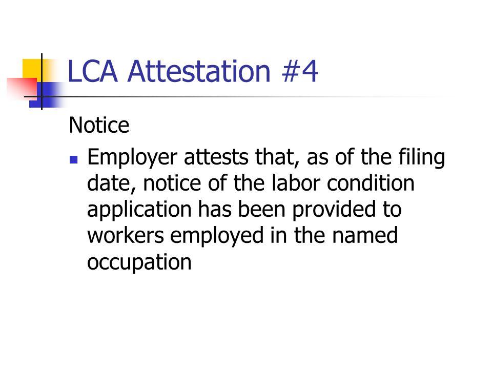 LCA Attestation #4 Notice