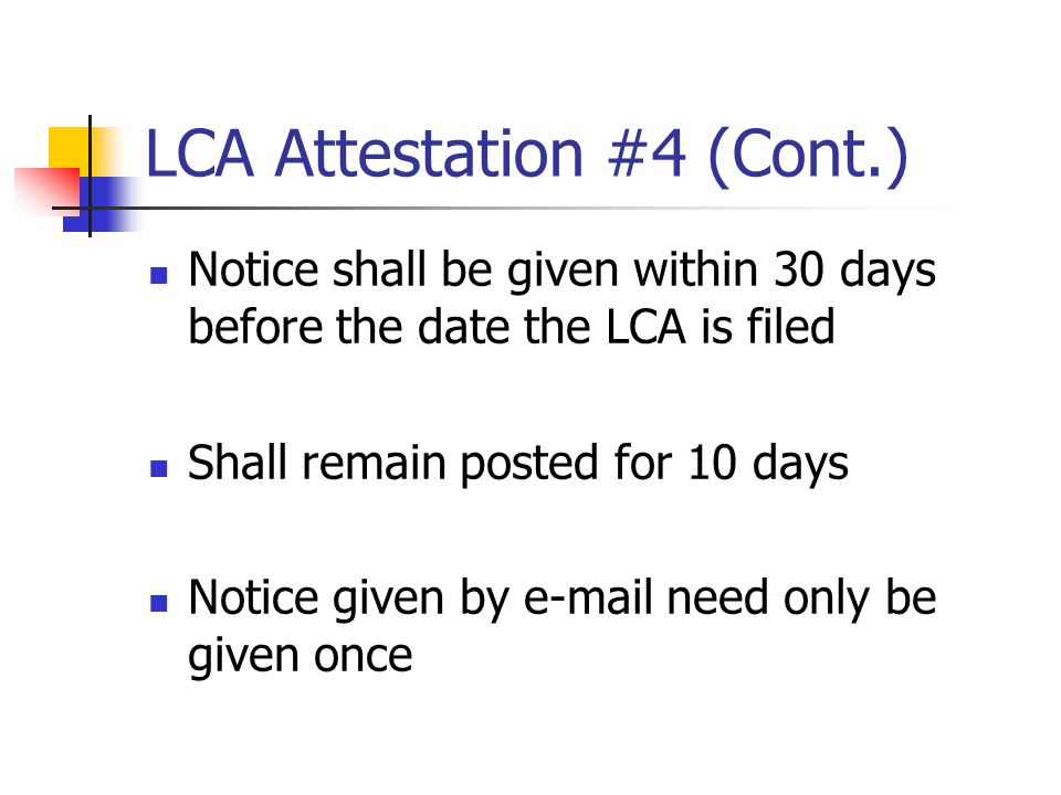 LCA Attestation #4 (Cont.)