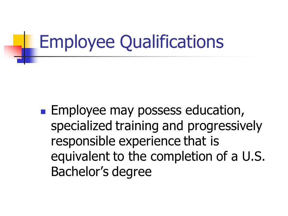 Employee Qualifications